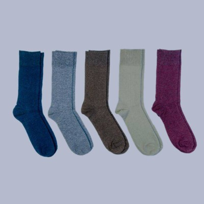 Men's Flat Knit Dress Socks 5pk - Goodfellow & Co™ 7-12