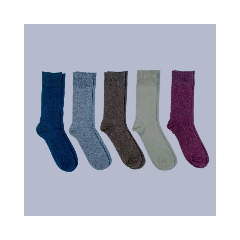 Image of Men's Flat Knit Dress Socks 5pk - Goodfellow & Co 7-12, Men's, Size: Small, MultiColored