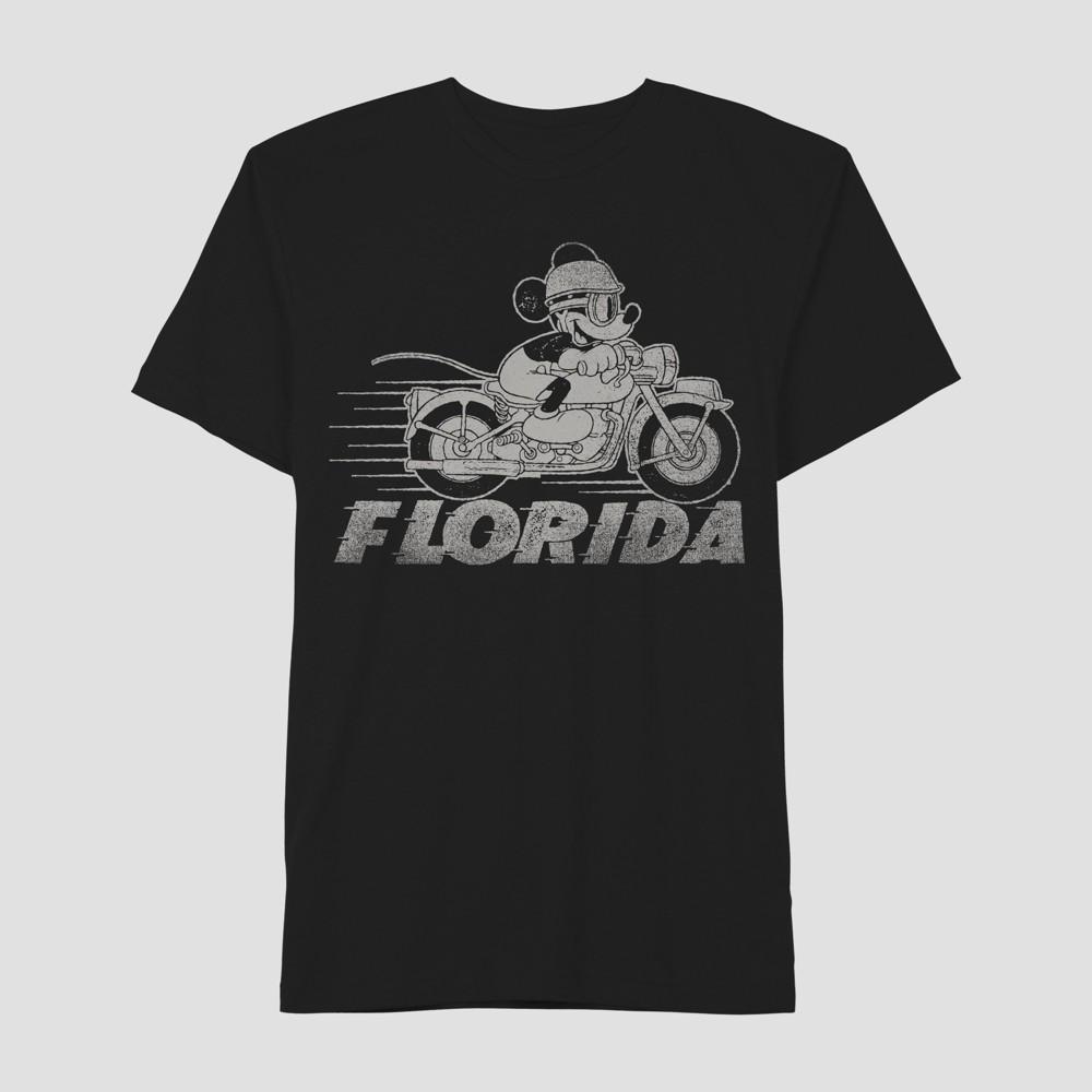 Men's Mickey Mouse Short Sleeve Moto Graphic T-Shirt - Awake Black S