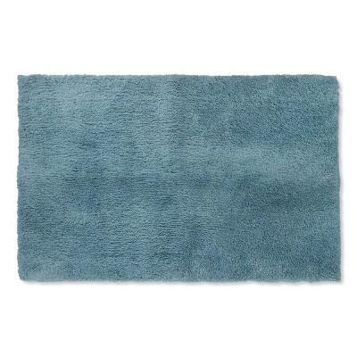 38 x24  Tufted Spa Bath Rug Aqua - Fieldcrest®