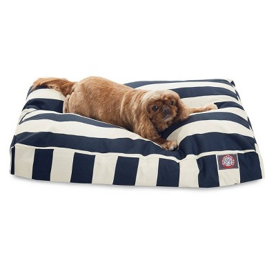 Majestic Pet Vertical Stripe Rectangle Dog Bed - Navy Blue - Medium - M