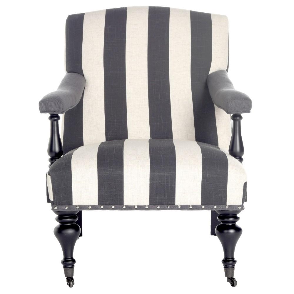 Upholstered Chair Black White - Safavieh, White Black