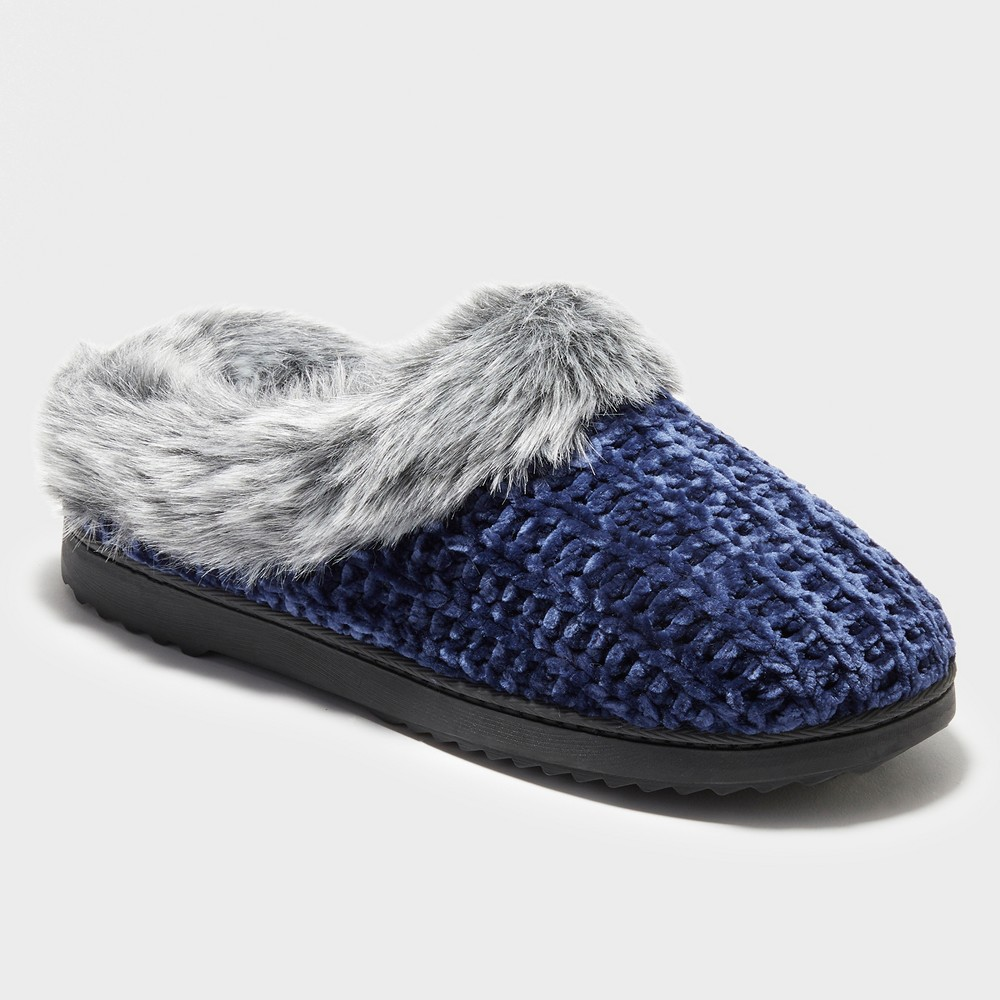 Women's Dearfoams Slide Slippers - Blue L