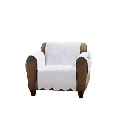 Floral Chair Furniture Protector White - Sure Fit