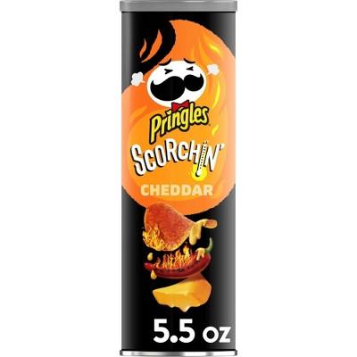Pringles SCORCHIN' Cheddar Potato Crips Chips - 5.57oz