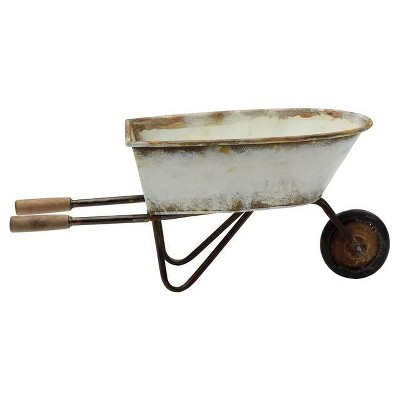 Decorative Metal Wheel Barrow (23 )- 3R Studios