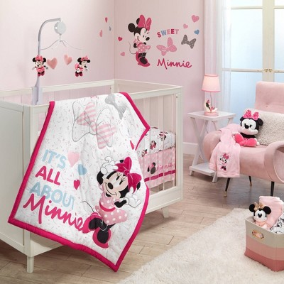Lambs & Ivy Bedtime Originals Minnie Mouse Love Crib Bedding Set - 3pc