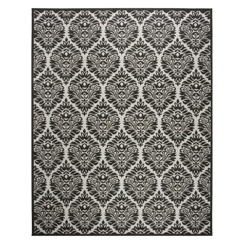 8'X10' Damask Loomed Area Rug Light Gray/Charcoal (Light Gray/Grey) - Safavieh