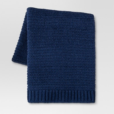 Chenille Throw Blanket (50 x60 )- Blue - Threshold™