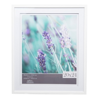 "20"" x 24"" Wide Double Matted to 16"" x 20"" Frame White - Gallery Solutions"
