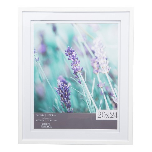 Single Picture 20x24 Wide Double Mat White 16x20 Frame Gallery