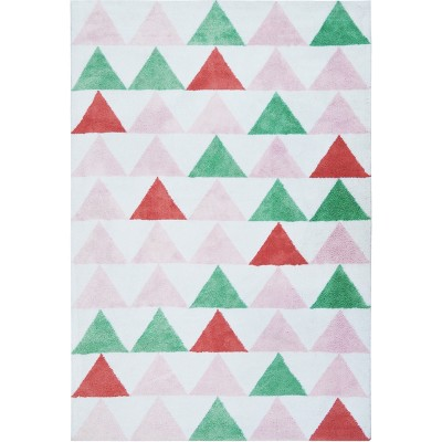 Micro Polyester Rug Triangles (5'x7')- Cloud Island™ - Pink