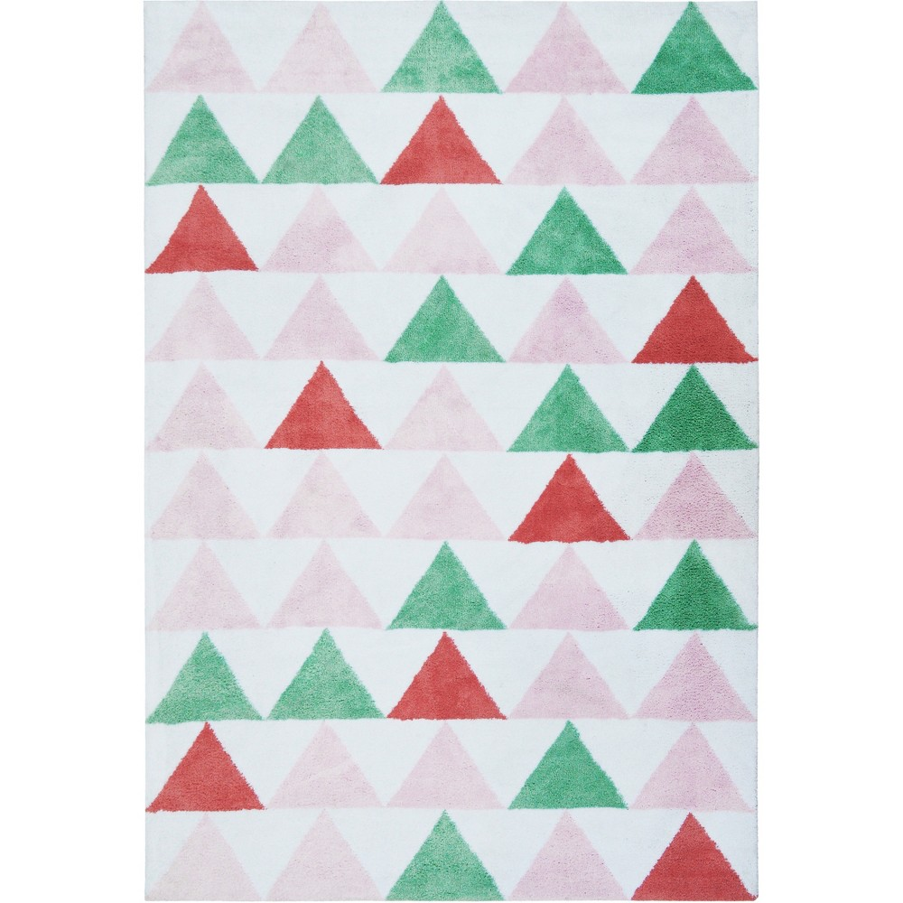 Micro Polyester Rug Triangles (5'x7') - Cloud Island - Pink