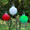 3ct Red Battery Operated Paper Lantern - image 3 of 3