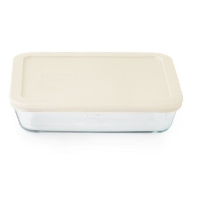 Pyrex 3 Cup Rectangular Food Storage Container Ivory
