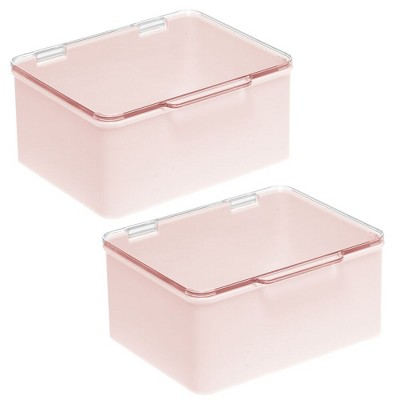 mDesign Stackable Countertop Storage Organizer with Lid