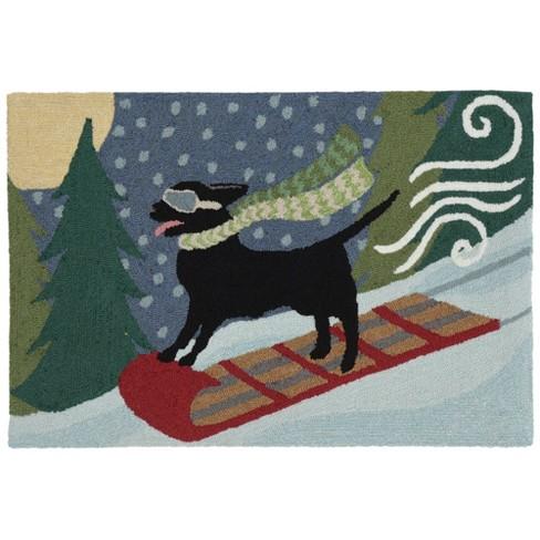 Liora Manne Frontporch Toboggan Dog Indoor/Outdoor Rug Multi - image 1 of 4