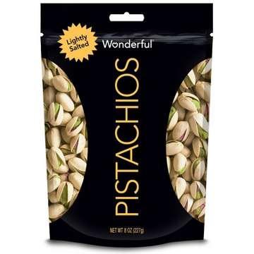 Wonderful Lightly Salted Roasted Pistachios - 8oz