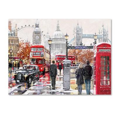 The Macneil Studio London Collage Copy Canvas Art 18 24  - Trademark Fine Art