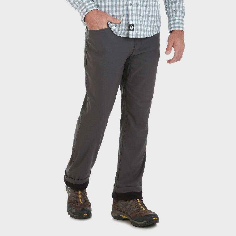 Wrangler Men's Outdoor Fleece Lined Cargo Pants - Gray 38x32, Grey