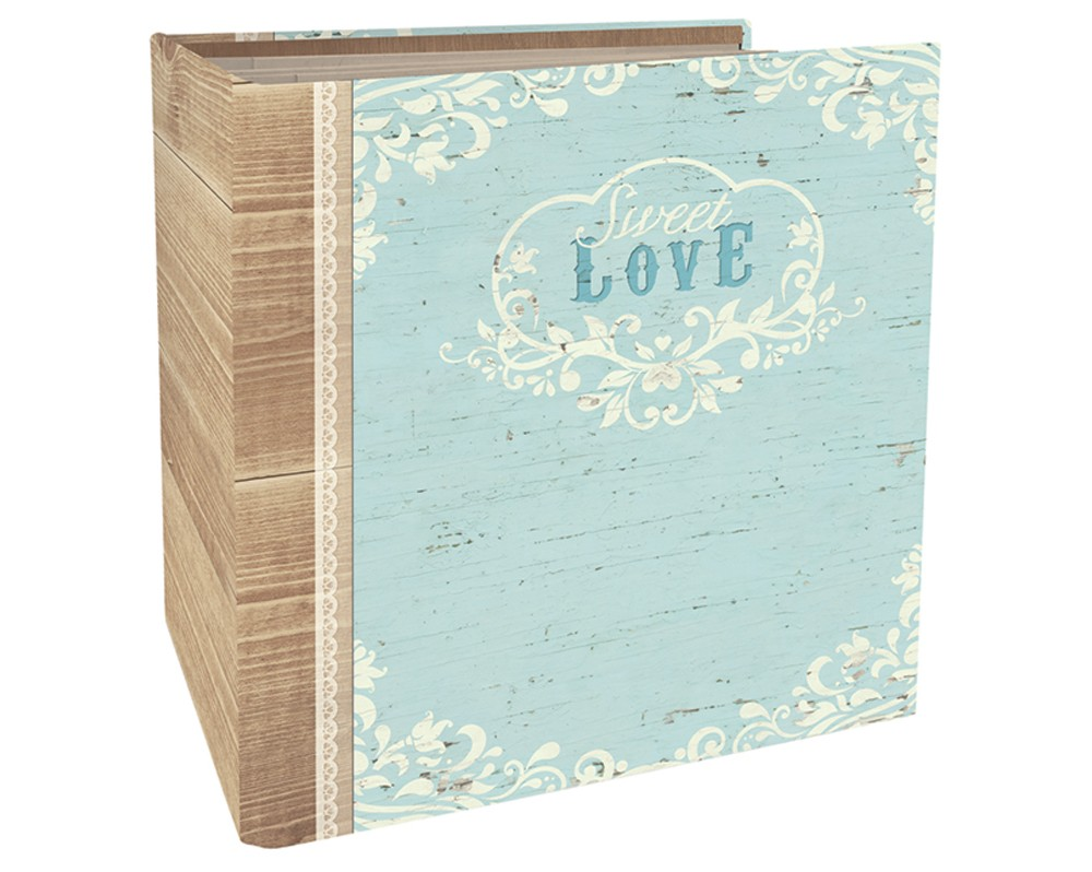 Image of Paper House Book-Bound Scrapbook - Wedding Love, Blue
