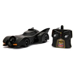 Jada Toys Hollywood Rides RC 1989 Batmobile Remote Control Vehicle 1:16 Scale Primer Black