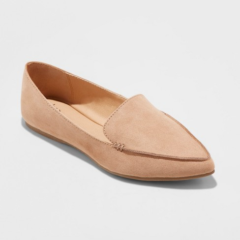 1ac171a9083f Women s Micah Wide Width Pointy Toe Loafers - A New Day™ Tan 7.5W ...