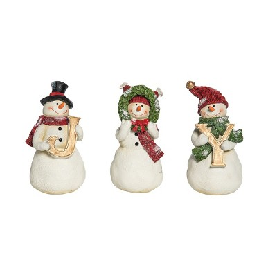 C&F Home Joy Snowmen Fig, Set of 3