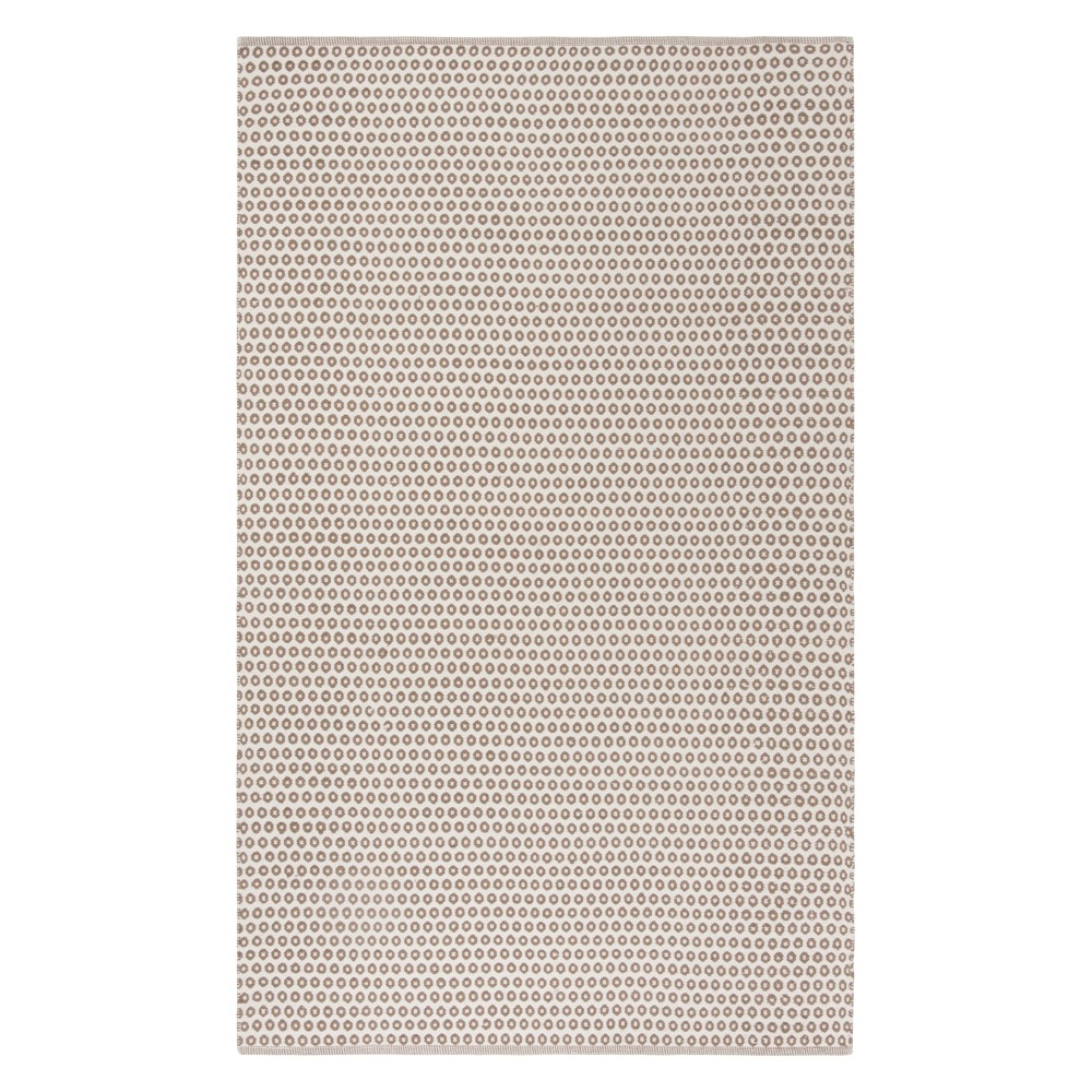 5'X8' Geometric Woven Area Rug Taupe/Ivory (Brown/Ivory) - Safavieh