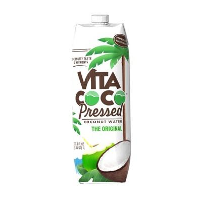 Vita Coco Coconut Water with Pressed Coconut - 33.8 fl oz Carton