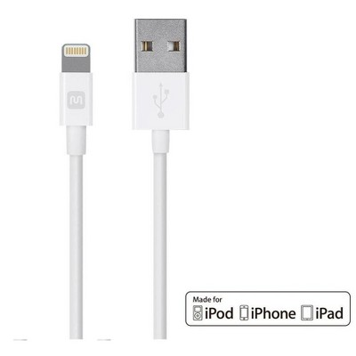 Monoprice Apple MFi Certified Lightning to USB Charge & Sync Cable - 3 Feet - White   iPhone X, 8, 8 Plus, 7, 7 Plus, 6, 6 Plus, 5S - Select Series