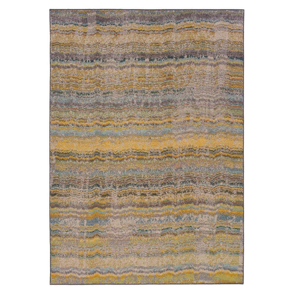 Spring Stripe Area Rug - Yellow (5'3