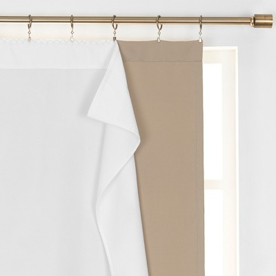 Extra Wide Draft Stop Thermal Window Curtain Liner - White - SunVeil