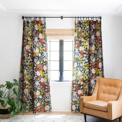 Alison Janssen Bright Tiny Blue Single Panel Blackout Window Curtain - Society6