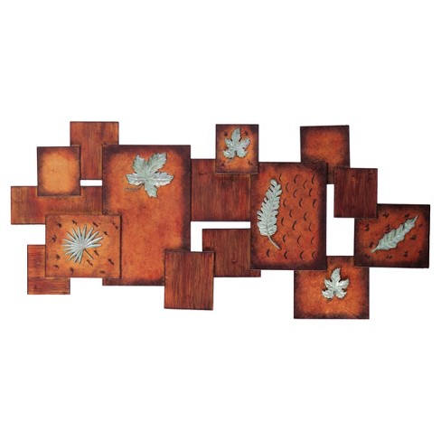 Leaves / Abstract Wall Art Panel - Earth Toned - Aiden Lane - image 1 of 4