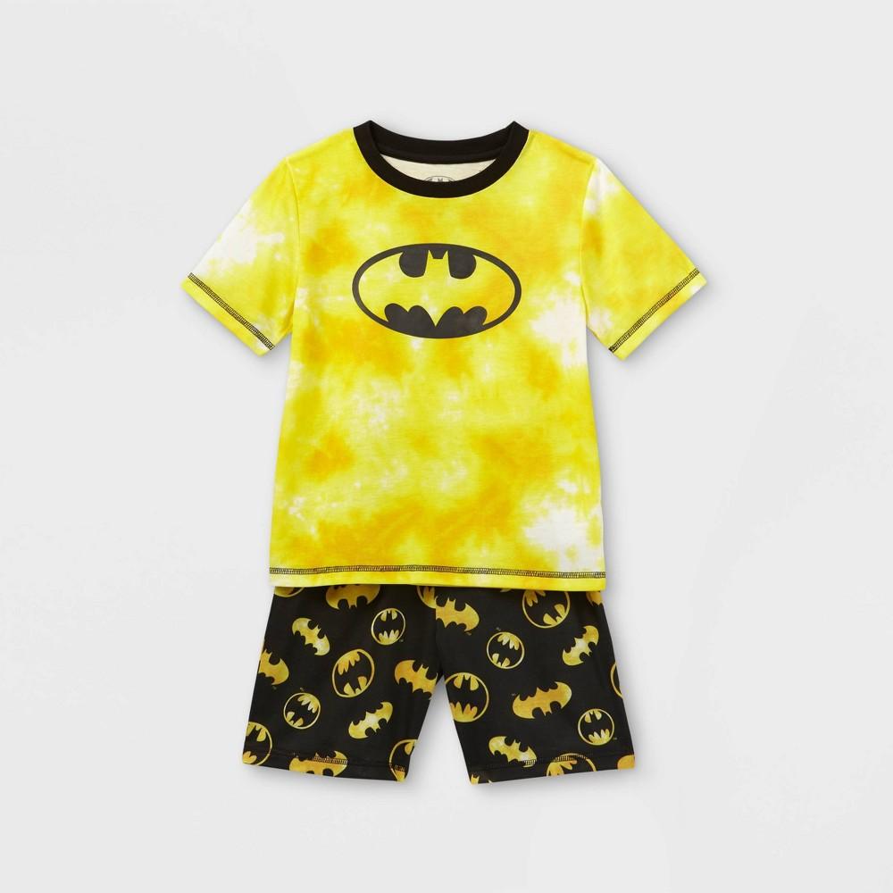 Boys 39 Batman Tie Dye 2pc Pajama Set Yellow Black Xs
