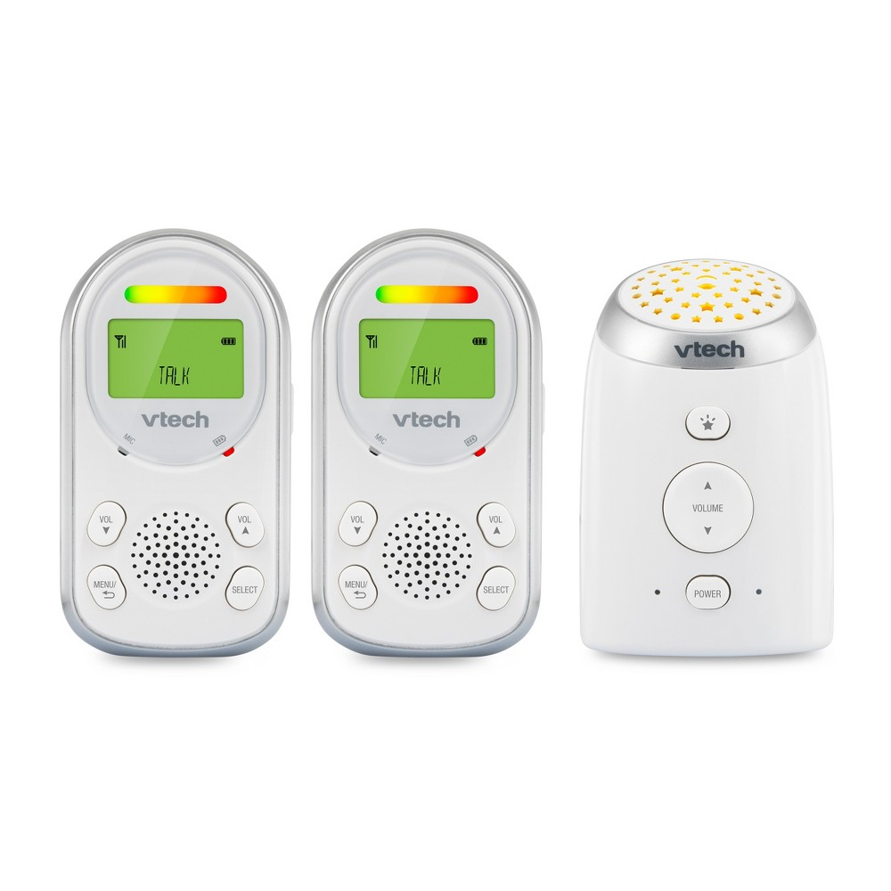 Image of VTech 2 Parent Digital Audio Monitor with Ceiling Night Light, White