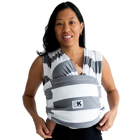 Baby K'tan Baby Wrap Carrier - Charcoal White - image 1 of 6