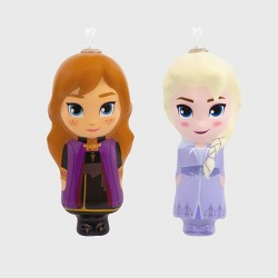 2pc Hallmark Disney Frozen 2 Elsa and Anna Decoupage Christmas Ornaments