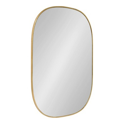 "24"" x 36"" Caskill Capsule Framed Wall Mirror Gold - Kate and Laurel"