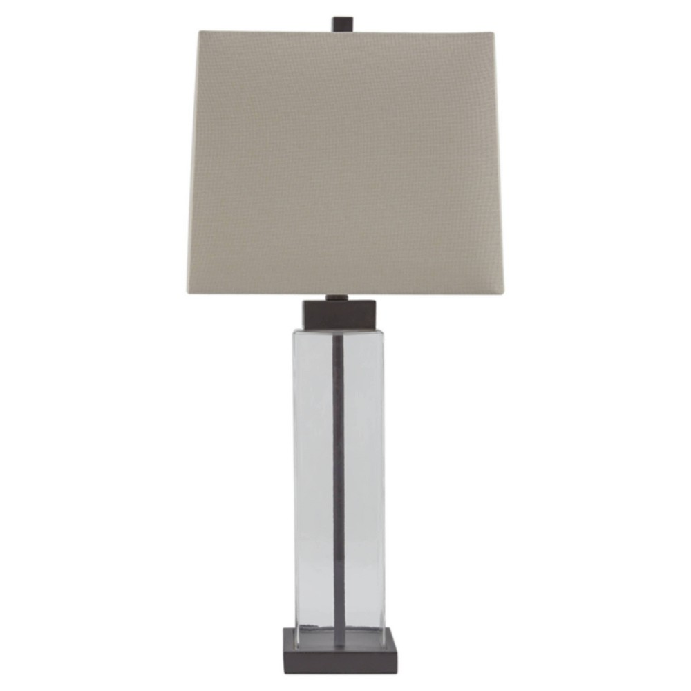 Set Of 2 Alvaro Table Lamps Clear Bronze Signature Design By Ashley