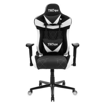Ergonomic High Back Racer Style Video Gaming Chair White - Techni Sport