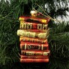 """Holiday Ornament 4.5"""" Stacks Of Books Teacher Reading  -  Tree Ornaments - image 3 of 3"""