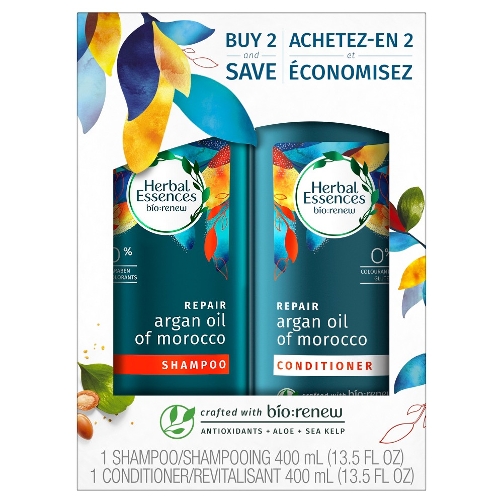 Image of Herbal Essences Argan Oil of Morocco Shampoo + Conditioner Dual Pack - 27 fl oz
