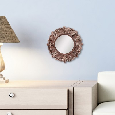 Round Decorative Wall Mirror Deep Taupe   CKK Home Decor : Target