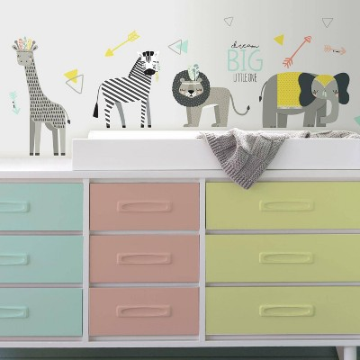 RoomMates Little Explorer Animal Peel and Stick Wall Decal
