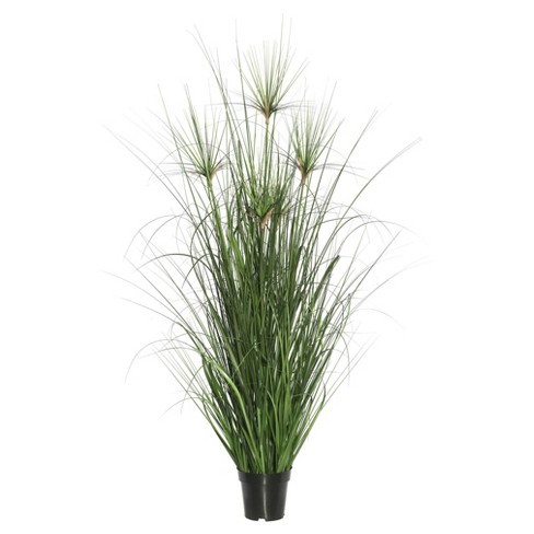 "Artificial Brushed Grass in Pot (48"") Green - Vickerman - image 1 of 1"