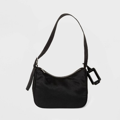 Zip Closure Extended Buckle Shoulder Handbag - Wild Fable™