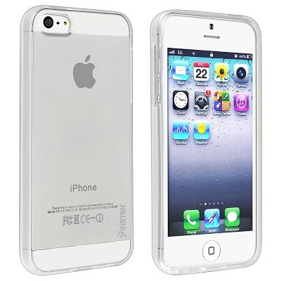 INSTEN Clear Ultra Slim Thin TPU Protective Case compatible with Apple iPhone