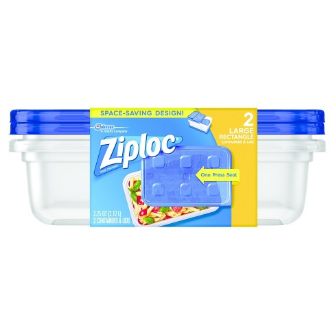 114582e01224 Ziploc Large Rectangle - 2ct Containers